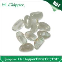 Clear Glass Gemstone Cashew Shape Fire Pit