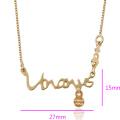 41968 Xuping fashion gold kids bijoux collier avec un nom simple pour bébé