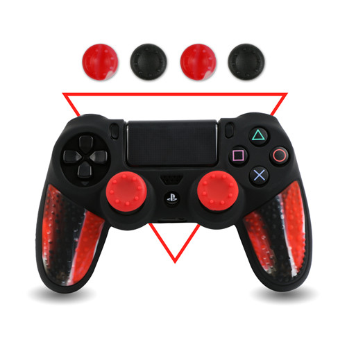 Analog Stick Silicone Grip Cap Button Covers for PS4 Controller