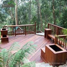 Jardín al aire libre apenado del café Indonesia Hardwood Merbau Decking