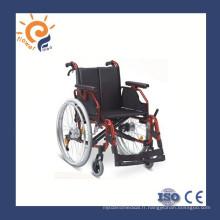 Chaise roulante légère en aluminium pour handicapé