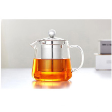 450ml / 600ml Мини стеклянный чайник с настойкой из нержавеющей стали для оптовых покупателей