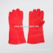 Red Cow Split Long Sleeve Welding Work Glove (6502)