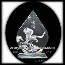 K9 Handmade Crystal Intaglio with Eagle