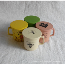 (BC-C1031) Coupe / tasse de table de bambou en fibre naturelle avec impression