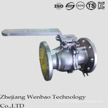 GB robinet à tournant sphérique flottant d'acier inoxydable de Manul pour l'industrie