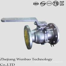 O GB flangeou válvula de bola de flutuação de aço inoxidável de Manul para a indústria