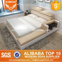 meubles de chambre à coucher en cuir pas cher design moderne fabriqués en Chine