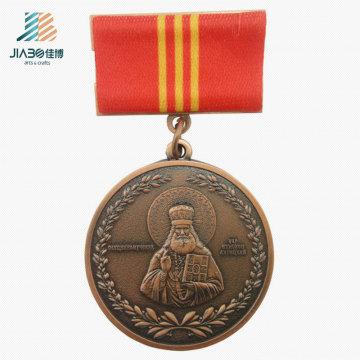 Personnalisé Religion Logo Metal Crafts Médaille d'honneur en bronze antique