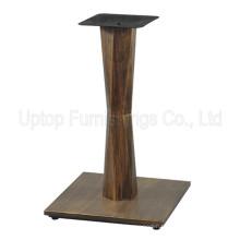 (SP-MTL224) Wholesale Square Base Copper Color Metal Iron Table Leg
