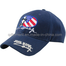 Gorra popular de béisbol de ocio de sarga de algodón bordado (TMB9189-1)