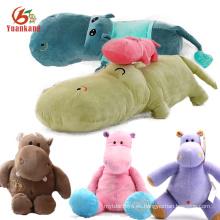 Navidad lindo bebé mullido suave hipopótamo animal personalizado relleno marrón rojo amarillo rosa verde púrpura azul felpa juguete hipopótamo