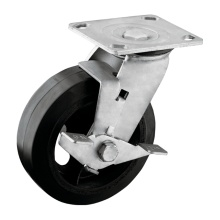 6 Inch Heavy Duty with Brake PU Caster for Trolleys