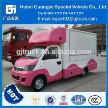 Coche móvil del bocado 4X2 China / camión de la comida para los alimentos de preparación rápida con la cocina
