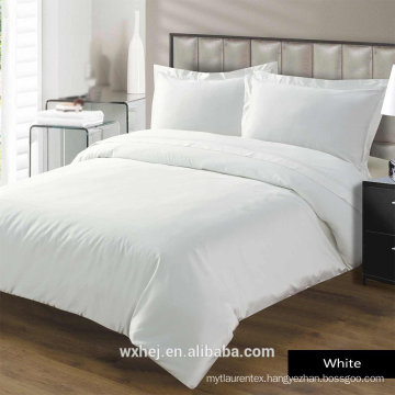 Wholesale cheap price full Size Cotton White Plain 5pcs Hotel Bedding Set