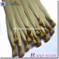 Alibaba Cheap #613 Blonde Human Hair I Tip Extension Pre-bonded Hair Weaving Human Hair Wefts 1g/Strand Free Samples