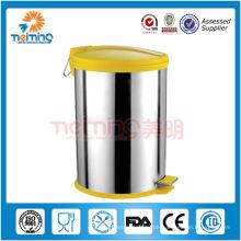 12LRound farbige Abfallbehälter aus Edelstahl zum Verkauf