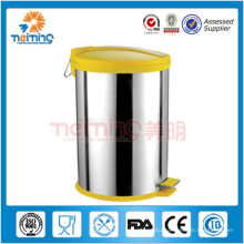 12LRound colored stainless steel waste bins for sale