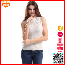 2017 New design pullover lady acrylic knitted slim vest sexy women vest