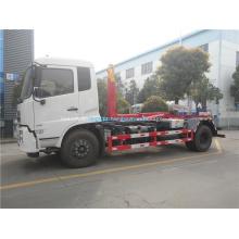 Caminhão de lixo de braço de gancho Dongfeng 4x2 de alta qualidade