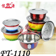 Stainless Steel Color Food Carrier Basin (FT-1110)