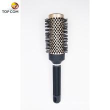 Cepillo de pelo antiestático, barril redondo de cerámica tónica de cerámica térmica nano con cerdas de jabalí