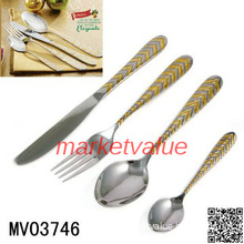 Elegant Design Stainless Steel Cutlery Set  with Artificial Gold