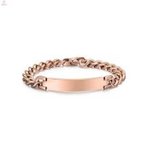 Bracelete robusto de aço inoxidável do ouro de Rosa, bracelete colorido ouro da jóia dos materiais