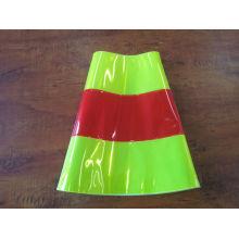 manga reflexiva para cone de tráfego
