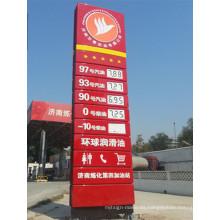 Señalización del pilón del LED del precio de la gasolinera