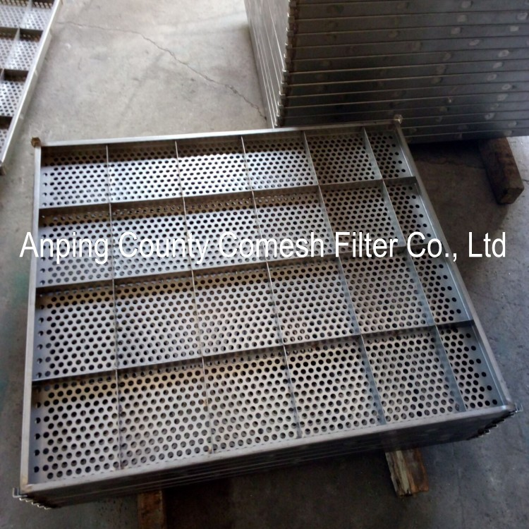 Perforated Stainless Steel Filter Tray