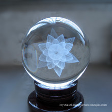 3D Laser Crystal Glass Ball Craft for Souvenir