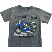 T-shirt 3D de lavage d'enfants dans l'habillement de garçon d'homme avec la qualité de coton Sqt-612