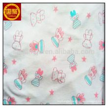 100% cotton interlock printed knitted fabric