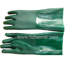 Gauntlet Double Dipped Green PVC Gloves Industrial Work Glove
