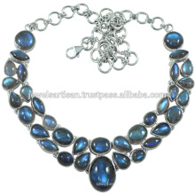 Labradorite Gemstone 925 Sterling Silver Necklace Jewelry
