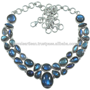 Labradorite Gemstone 925 Sterling Silver Necklace Jewelry