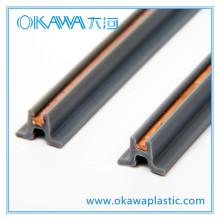 Fabricación de perfil de extrusión común de PVC y cobre