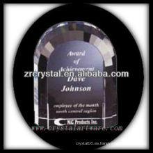 trofeo de cristal en blanco atractivo del diseño X065