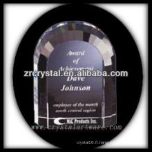 design attrayant blanc trophée en cristal X065