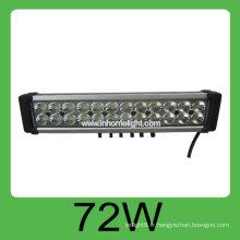 Haute qualité 72W DC10-30V Auto Led hors de la barre de lumière de travail de route, lumière de travail de cob led