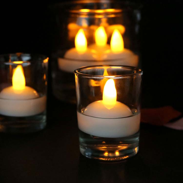 Led Floating Tea Waterproof Decoration Flameless Candles 3