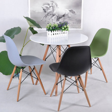 Cheapest Factory for Sectional Dining Table And Chair Replica Eames DSW Round Wood Leg Table export to Russian Federation Factories