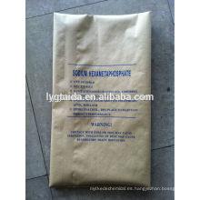 Hexametafosfato de sodio (retenedor de agua en la industria alimentaria)