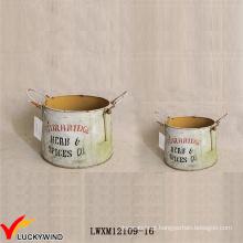Sturbridge Vintage Vasos Decorativos de Metal para Plantas Indoor