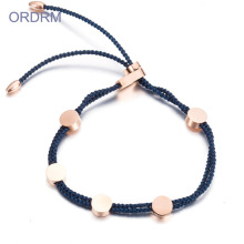 Kustom Womens Adjustable Biru Nylon Rope Bracelet