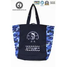 2016 bolsas de asas de camuflaje azul de alta calidad con impresión personalizada