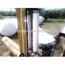 Blanco / negro / verde Ensilaje película de abrigo elástico para empacadoras de hierba