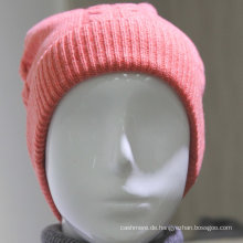 2016 neue design Kaschmir Knit muster ohr klappen strickmütze