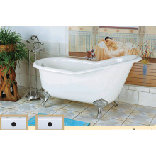 Antique Modern Enamel Cast Iron Bathtub